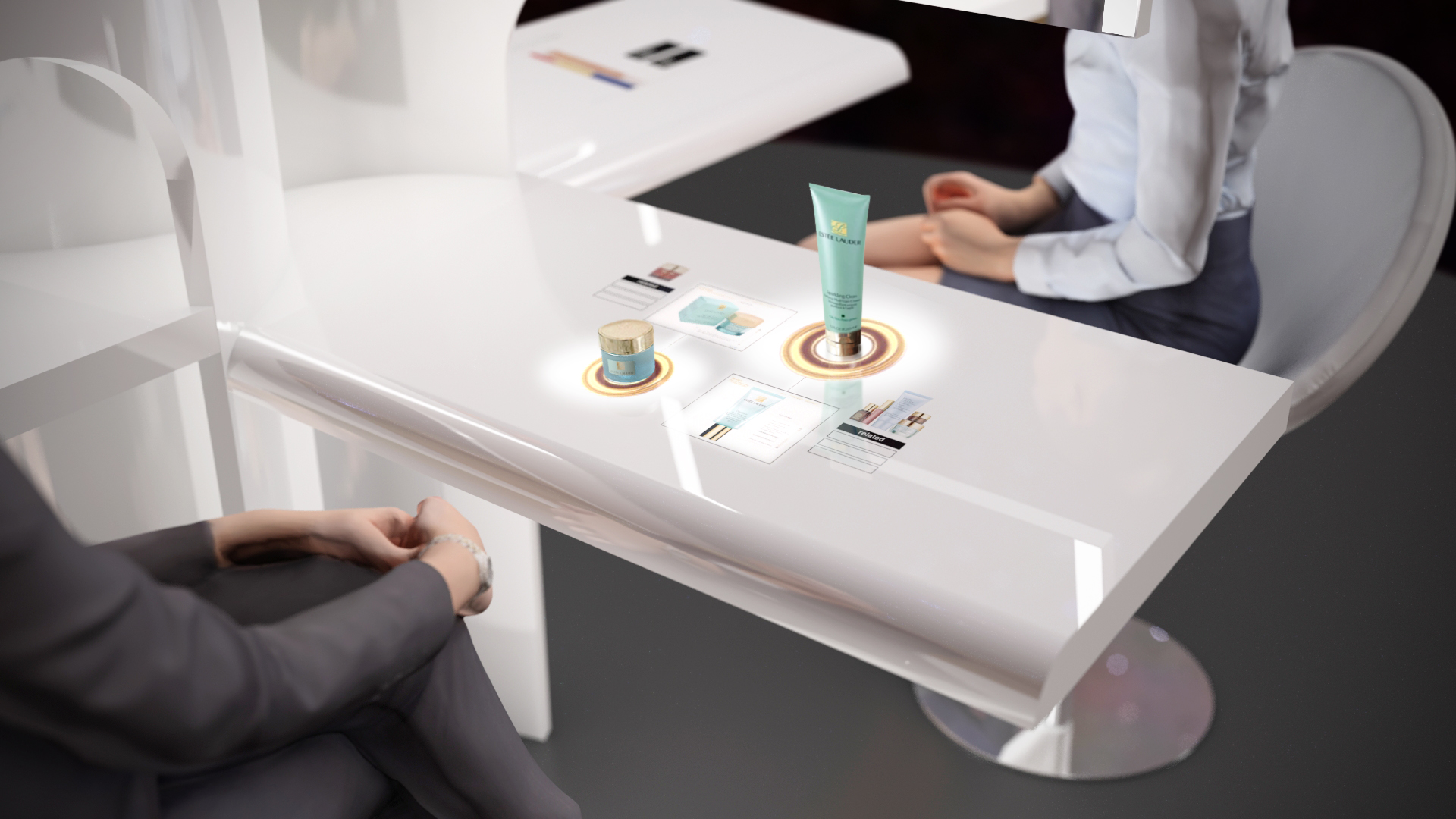 Estee Lauder interactive table