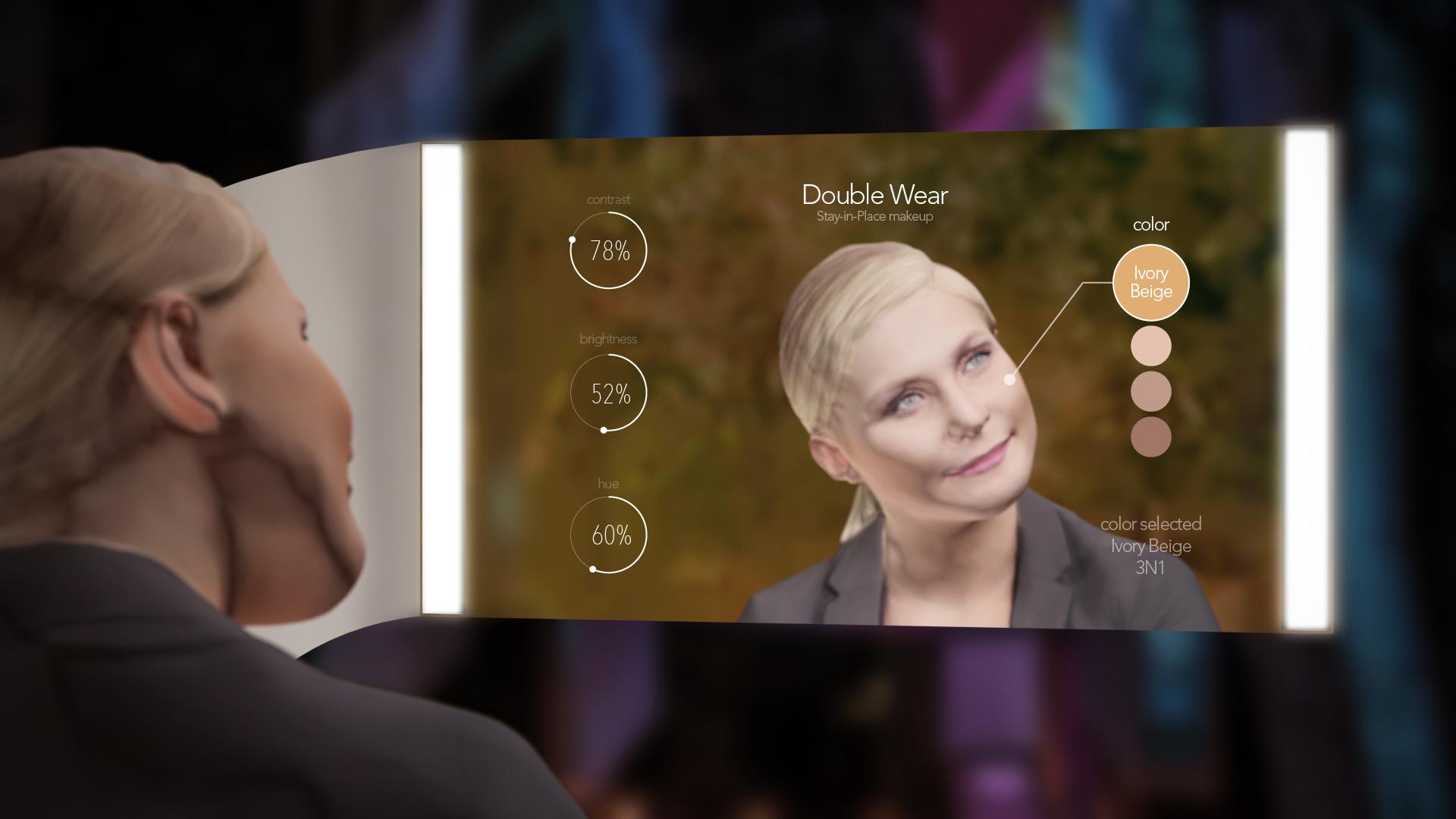 Estee Lauder interactive mirror